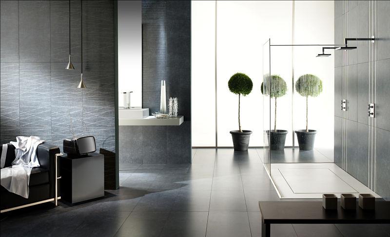 Luxusbad mit großzügig gestalteter Glasdusche