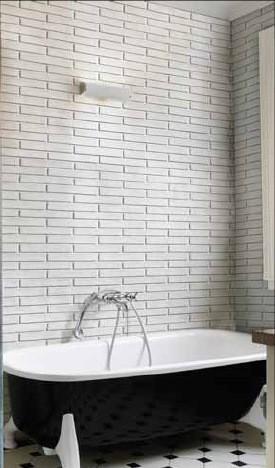 Badideen – eine Wandgestaltung in Ziegelsteinoptik