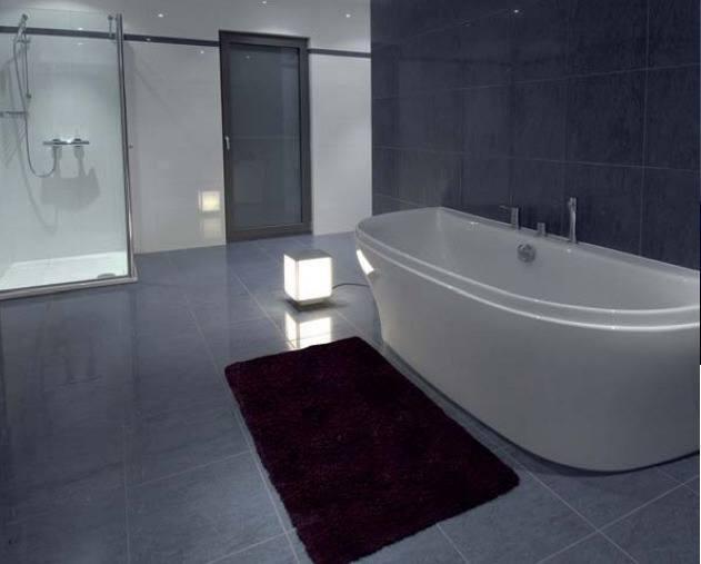 Lichtplanung, Bodenleuchte im Badezimmer
