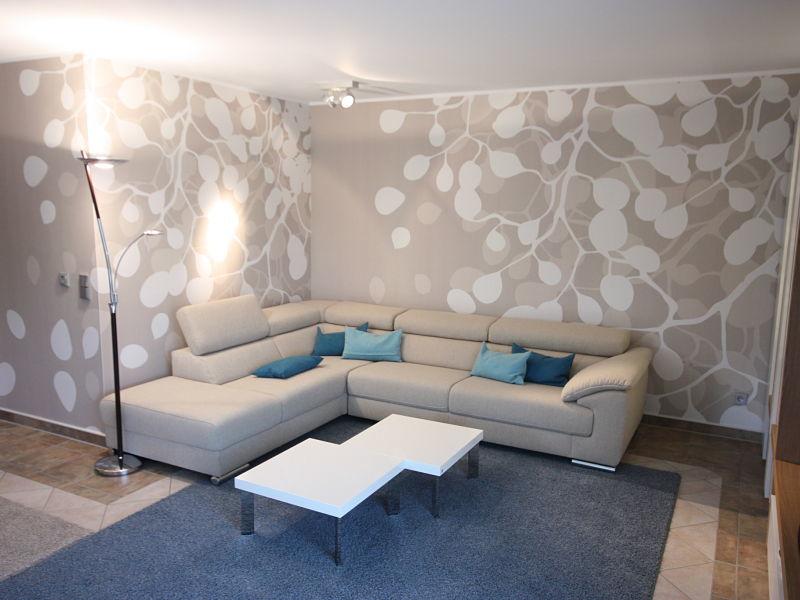 Wohnzimmergestaltung mit Fototapete