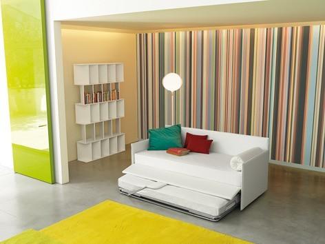 Design-Schlafsofa in Weiß