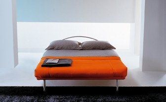 Modernes Design Schlafsofa in Orange