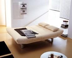 ... Design Schlafsofa Mit Stoffbezug In Creme ...