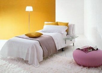 Design Schlafsofa in Weiß als Einzelbett