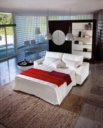 Modernes Design-Schlafsofa in Weiß