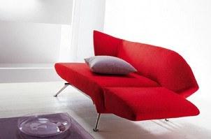 Modernes Design Schlafsofa mit Stoffbezug in Rot