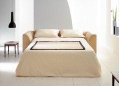 Klassisches Design Schlafsofa mit Stoffbezug in Beige