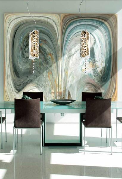 Innenraumbeleuchtung – sinnliche Hängeleuchte aus Glas