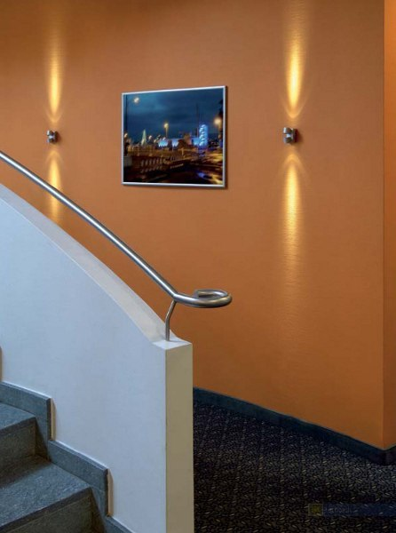 Innenraumbeleuchtung – dekorative Wandleuchte aus farbigem Glas