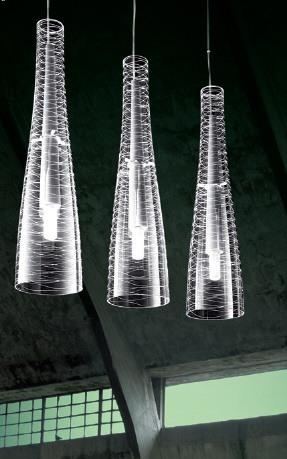 Innenraumbeleuchtung – moderne Designer-Hängeleuchten aus Glas mit interessanter Optik