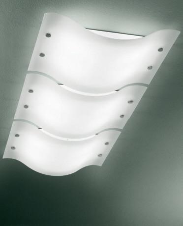 Designer-Innenraumbeleuchtung aus satiniertem Glas