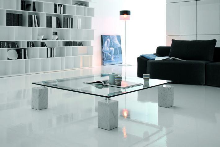 Luxus-Wohnzimmer ganz in Weiß
