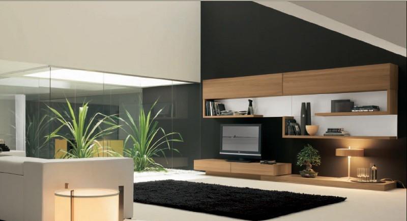 Entzuckend Ein Luxuswohnzimmer Mit Integriertem Luxuriösem Lichthof