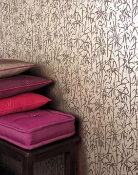 Kreative Wandgestaltung mit Designtapete im asiatischen Stil