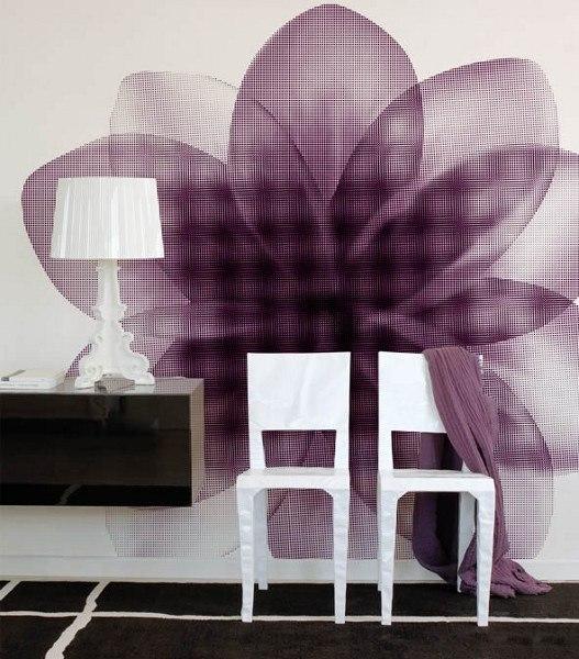 Motivtapeten – Abstrakte Blume