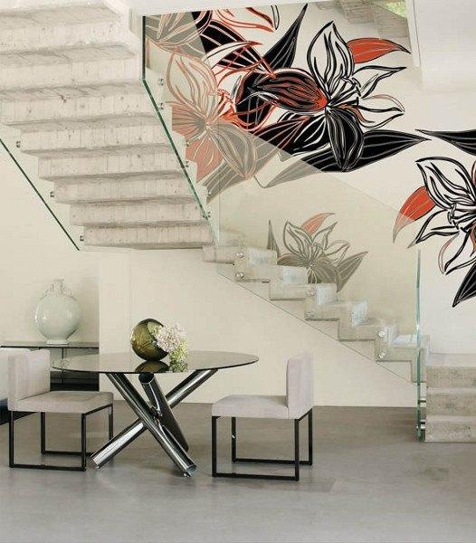 Motivtapeten – Abstraktes Blütenmotiv