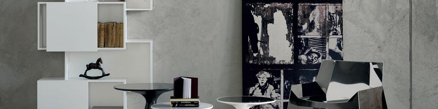 wandverkleidungen in betonoptik f r wohnr ume raumax. Black Bedroom Furniture Sets. Home Design Ideas