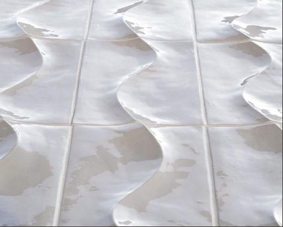 Wandgestaltung mit Fliesen aus Keramik, Modell Dune