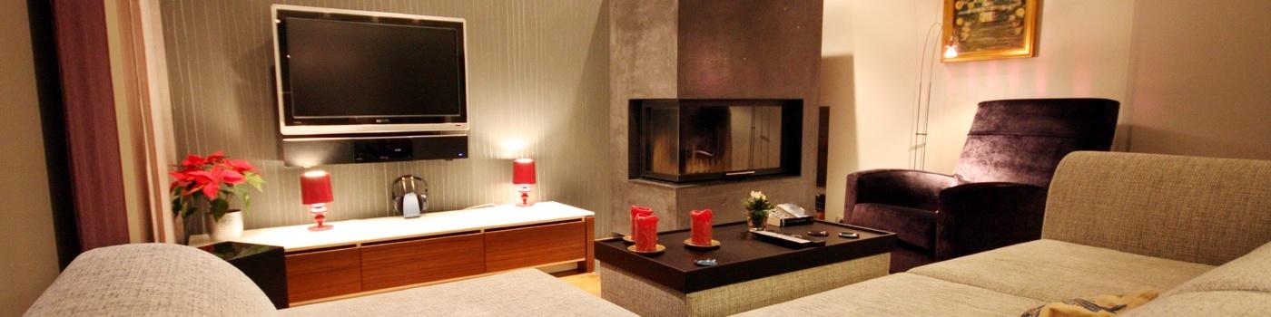 wohnzimmer gestalten mit modernem kamin raumax. Black Bedroom Furniture Sets. Home Design Ideas