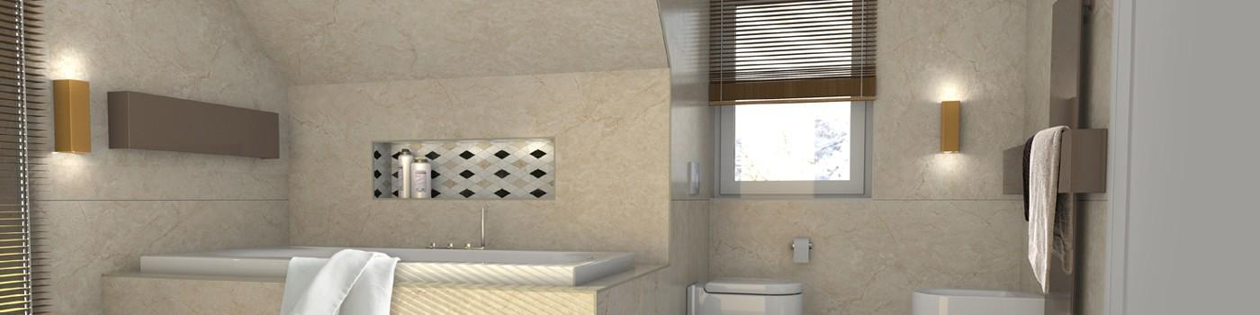 ein bad mit schr ge die perfekte l sung raumax. Black Bedroom Furniture Sets. Home Design Ideas