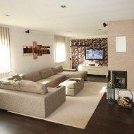 Wohnzimmer gestalten Designleuchte