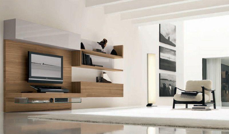 ... Echtholzfurnier Nussbaum Gibt Diesem Designer Wohnzimmer Seinen  Unverwechselbaren Charakter ...