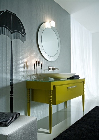 Designbadmöbel – Ein interessanter Waschtisch mit Waschschüssel