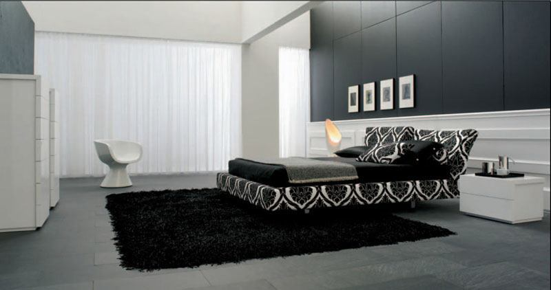 luxus schlafzimmer schwarz wei. Black Bedroom Furniture Sets. Home Design Ideas