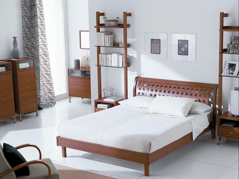 Schlafzimmergestaltung mit edlen Holzmöbeln
