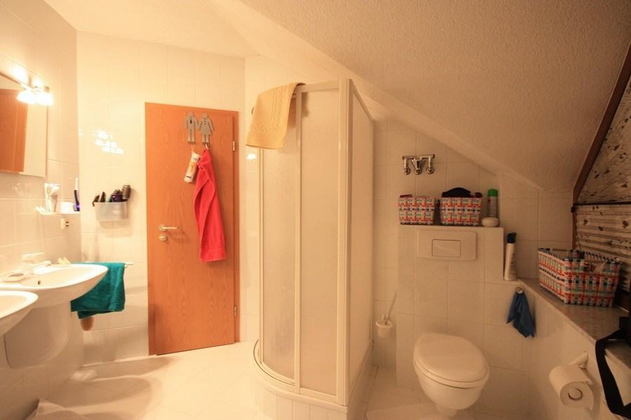 Vor der Badsanierung: die alte Dusche