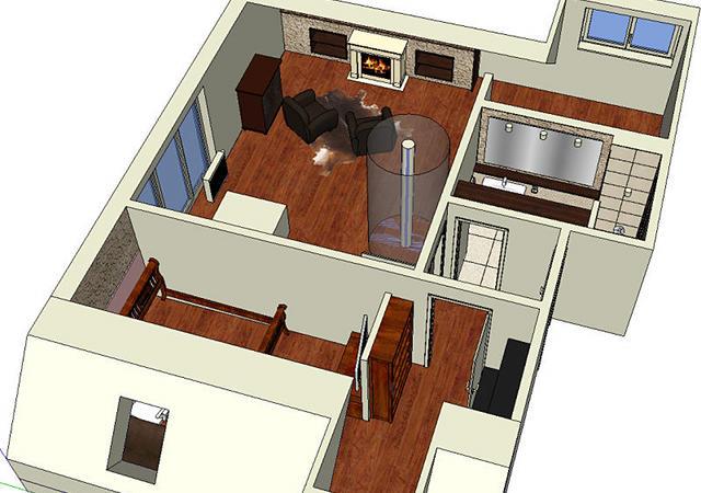 Die von uns entworfene 3-D-Computerplanung bildet die Grundlage für den Dachausbau