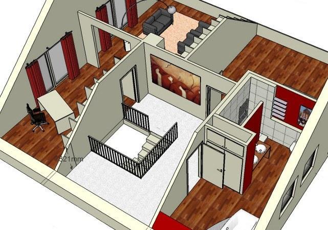 Die Planung des kompletten Dachgeschosses mit allen Räumen