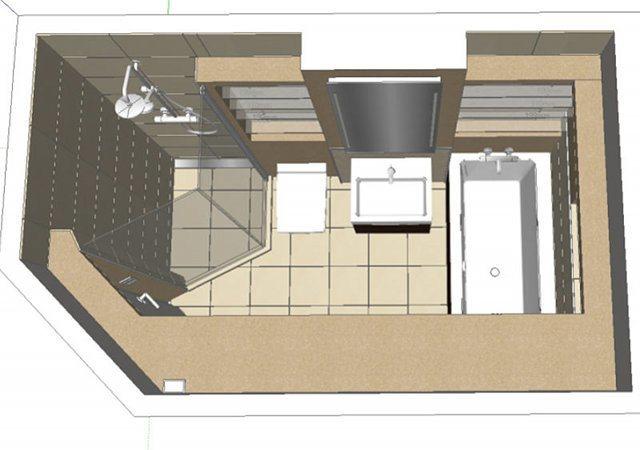Die Planung des Design-Bades mit allen Details in 3-D