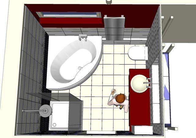 Das ist die 3-D-Planung des Designerbades
