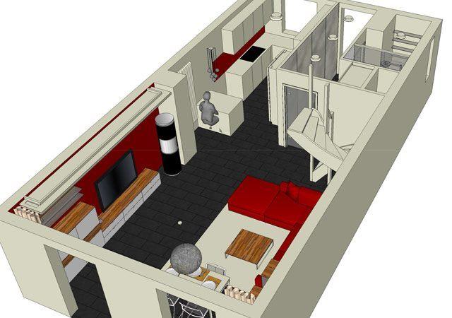 Haus einrichten - Planung des Wohn- Essbereiches
