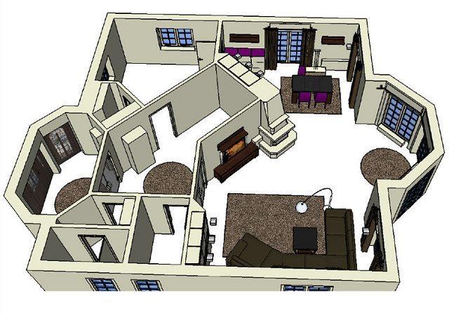 Die von uns erarbeitete Planung für die Hausrenovierung