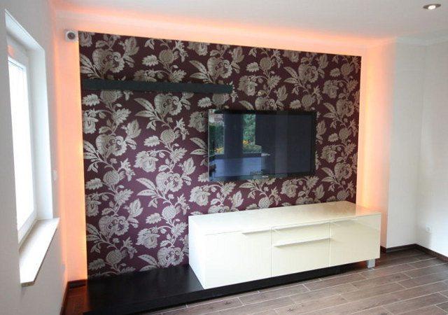 Wohnzimmer Gestalten   Wir Nutzen Die Bereits Vorhandene Wand Und  Veränderten Die Optik, ...