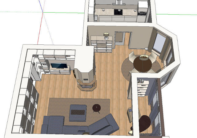 Die Planung Der Wohnzimmereinrichtung Mit Offener Kche