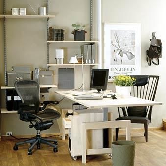 Arbeitszimmereinrichtung - Wenn sich Ihr Arbeitszimmer in den Wohnraum integrieren soll, sehen Sie hier eine mögliche Lösung.
