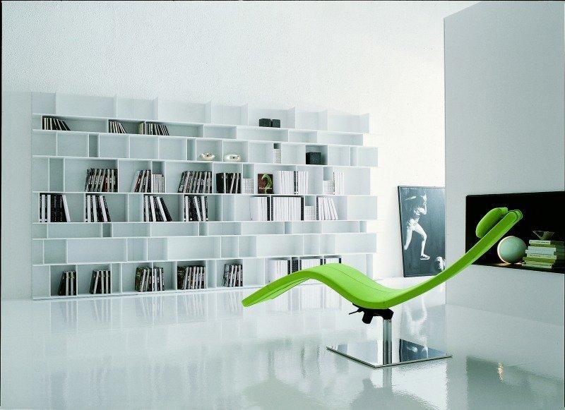 Bibliothekseinrichtung ganz modern