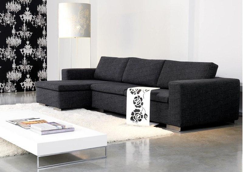 ... Moderne Wohnzimmergestaltung In Den Farbtönen Schwarz / Weiß  Wohnzimmergestaltung ...