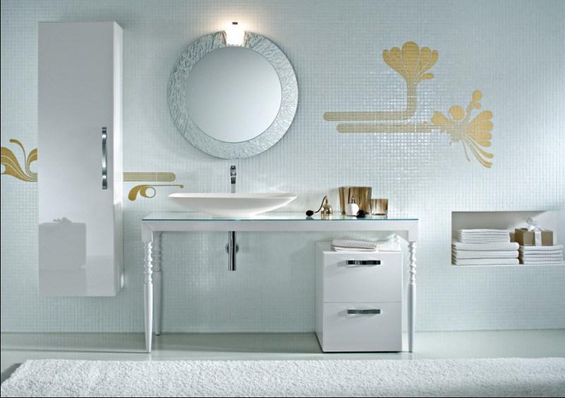 Einrichten in Weiß – ein modernes Bad in weiß gestaltet.